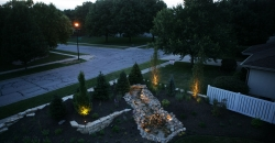 Landscaping at 7800 Cooper Ave., by Tailored Landscapes on July 26, 2011. Brian Lehmann